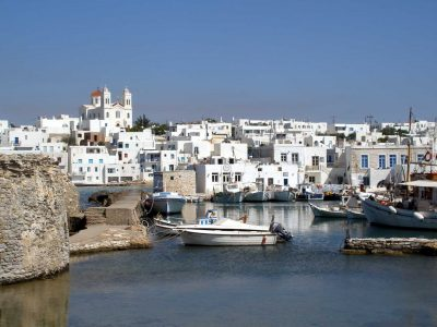The picturesque harbor of Naoussa